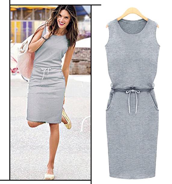 Сіре спортивне плаття Jenny (Код MF-154) M