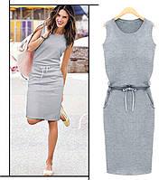 Серое спортивное платье Jenny (Код 154)