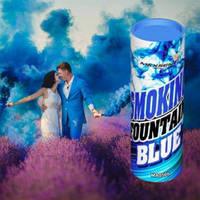 Синий цветной дым для фотосессии