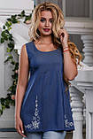 Оригинальная Блуза  из качественного стрейч-коттона 44-50р, фото 2