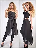 Летняя шифоновая юбка - туника (блузка)