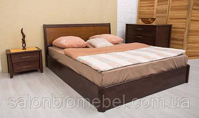 Кровать Сити 1,4м бук с подъемной рамой интарсия