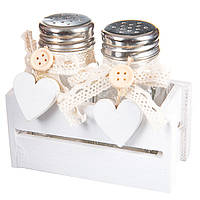 Набор для соли и перца в деревянном коробе