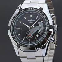 Часы наручные мужские WINNER Skeleton SilverBlack M138