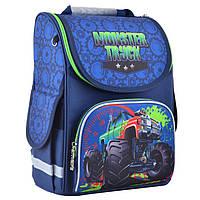 Рюкзак (ранец) 1 Вересня школьный каркасный Smart 554523 Monster truck PG-11 34*26*14см