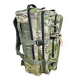 Тактический армейский походный штурмовой 3-х дневный рюкзак на 50 литров мультикам Cordura 1000D , фото 3