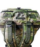 Тактический армейский походный штурмовой 3-х дневный рюкзак на 50 литров мультикам Cordura 1000D , фото 4