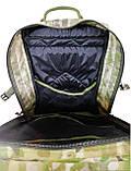 Тактический армейский походный штурмовой 3-х дневный рюкзак на 50 литров мультикам Cordura 1000D , фото 7