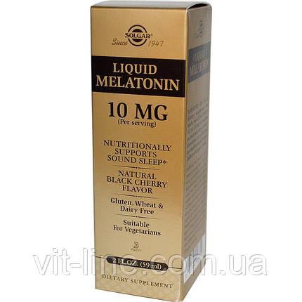 Solgar, Liquid Melatonin, 10mg. Жидкий мелатонин, фото 2