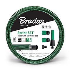 """Шланг для полива SPRINT 1/2"""" 20м + набор - ороситель рег., коннектор STOP и STANDART, адаптер, WFS1/220SET"""