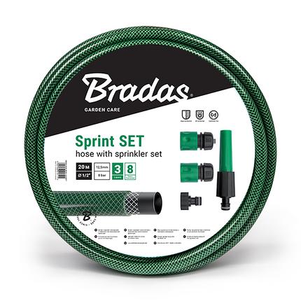 """Шланг для полива SPRINT 1/2"""" 30м + набор - орситель рег., коннектор STOP и STANDART, адаптер, WFS1/230SET, фото 2"""