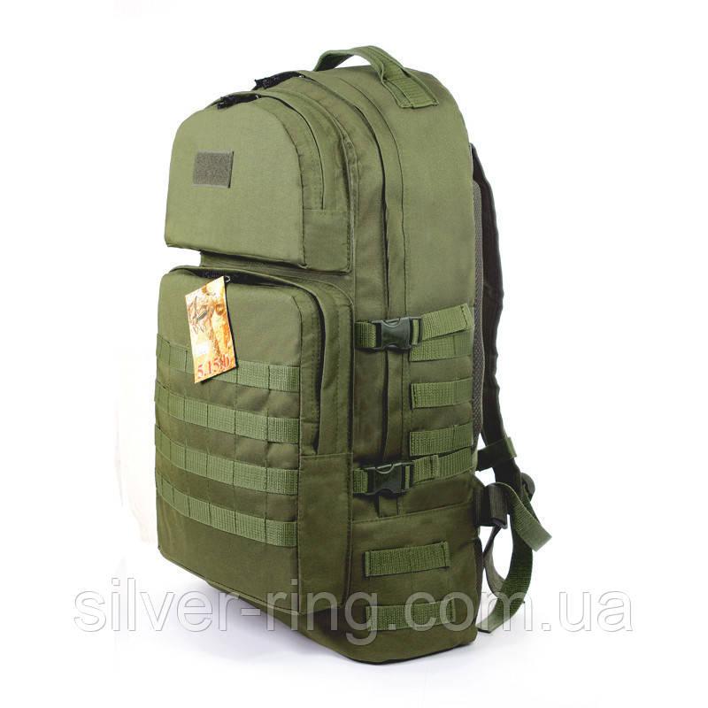 Тактический армейский туристический крепкий рюкзак 60 литров олива