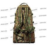 Тактический туристический крепкий рюкзак трансформер 40-60 литров мультикам, фото 4