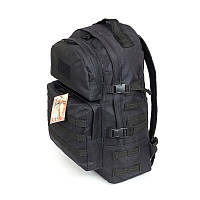 Тактический походный крепкий рюкзак 40 литров чёрный.