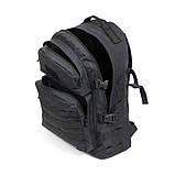 Тактический походный крепкий рюкзак 40 литров чёрный., фото 6