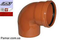 Угол канализационный ПВХ 160х90 наружный PAMAR
