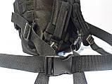 Тактический, штурмовой крепеий рюкзак 25 литров черный, фото 5