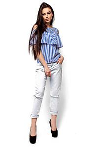 Женская блуза с воланом в синюю полоску Karree Каир
