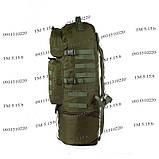 Тактический туристический крепкий рюкзак трансформер 40-60 литров афган, фото 3