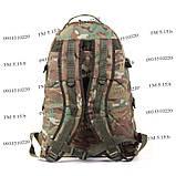 Тактический походный крепкий рюкзак с органайзером 40 литров мультикам, фото 4