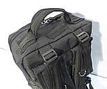 Тактический, штурмовой супер-крепкий рюкзак 25 литров черный, фото 6