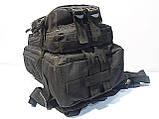 Тактический, штурмовой супер-крепкий рюкзак 25 литров черный, фото 7