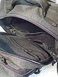 Тактический, штурмовой супер-крепкий рюкзак 25 литров черный, фото 8