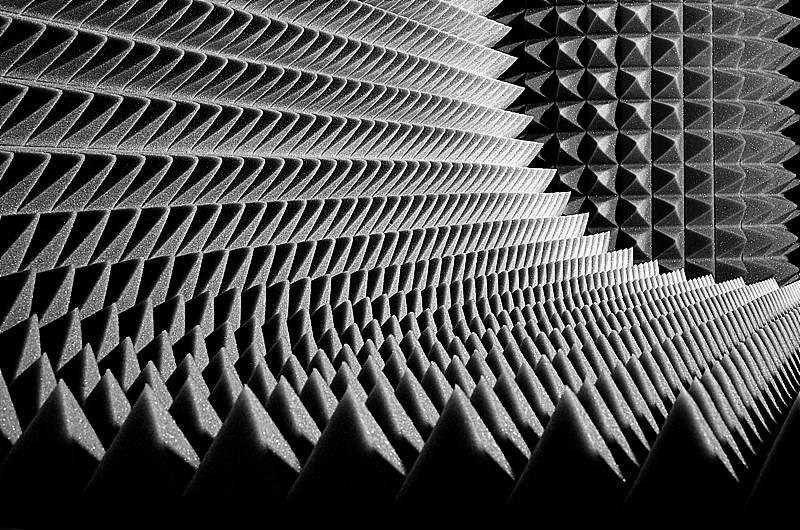 Акустичний поролон Ecosound піраміда 70мм 1мх1м чорний графіт