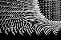 Акустичний поролон Ecosound піраміда 70мм 1мх1м чорний графіт, фото 1