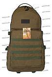Тактический армейский туристический супер-крепкий рюкзак 60 литров Койот, фото 2