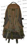 Тактический армейский туристический супер-крепкий рюкзак 60 литров Койот, фото 4
