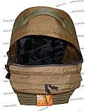 Тактический армейский туристический супер-крепкий рюкзак 60 литров Койот, фото 6