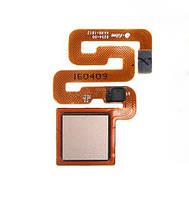 Оригинальный шлейф сканера отпечатка пальца Xiaomi Redmi 3 Pro золотистый