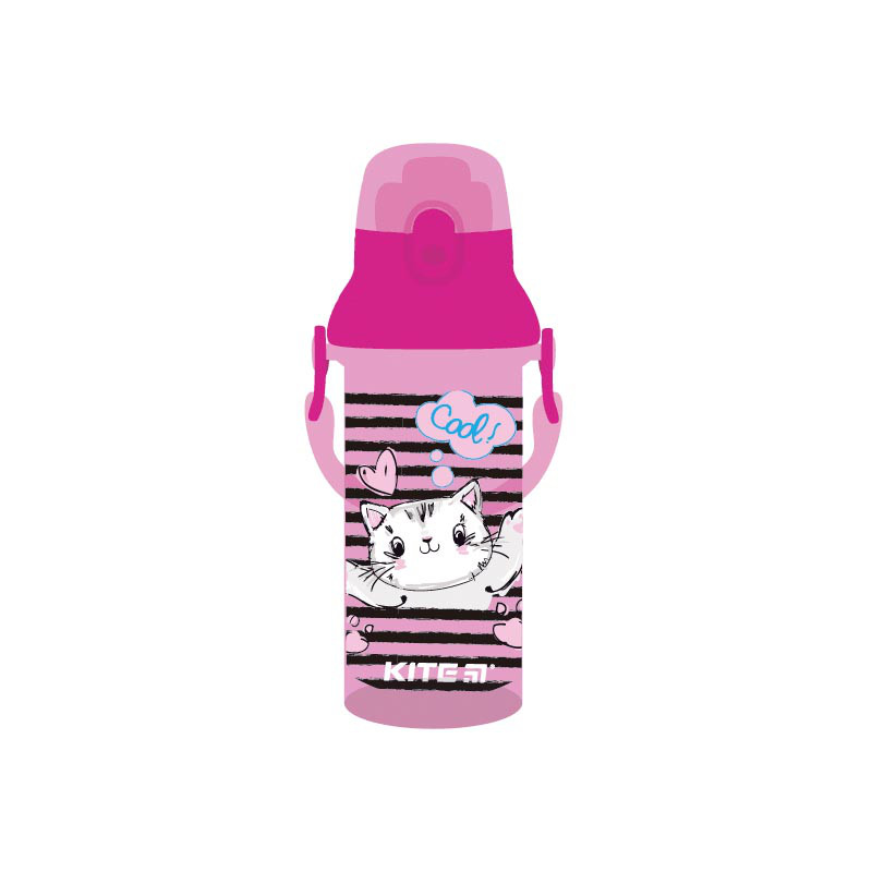 Бутылочка для води, 470 мл, розовая