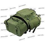 Туристический армейский крепкий рюкзак на 75 литров олива, фото 6