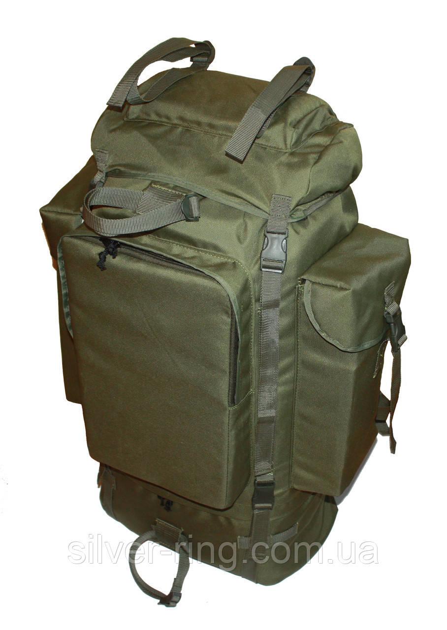 Тактический туристический армейский супер-крепкий рюкзак на 105 литров олива