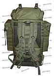 Тактический туристический армейский супер-крепкий рюкзак на 105 литров олива, фото 5