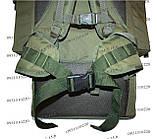 Тактический туристический армейский супер-крепкий рюкзак на 105 литров олива, фото 6