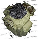 Тактический туристический армейский супер-крепкий рюкзак на 105 литров олива, фото 8