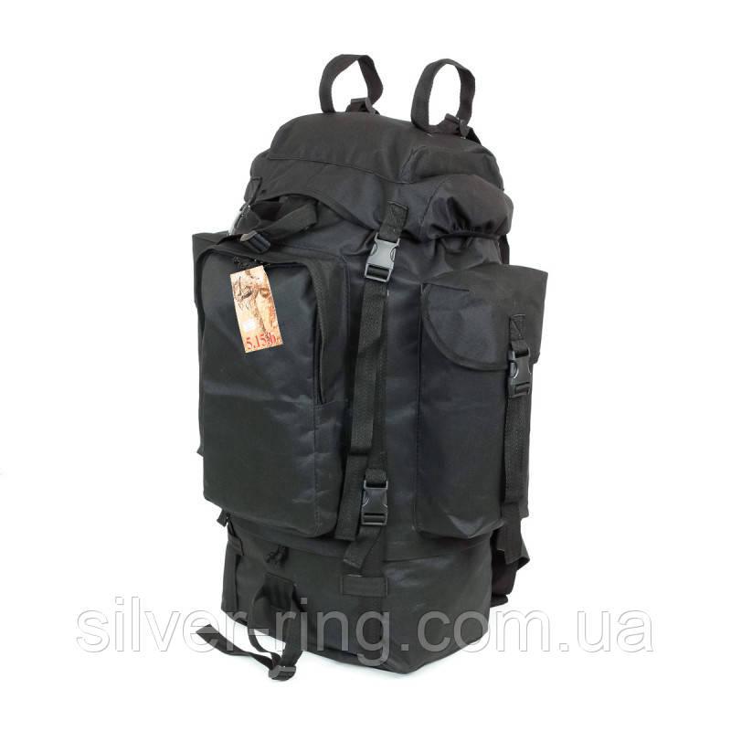 Туристический армейский супер-крепкий рюкзак 75 л. с ортопедической пластиной. Чёрный 1200 Нейлон