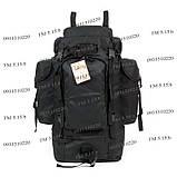 Туристический армейский супер-крепкий рюкзак 75 л. с ортопедической пластиной. Чёрный 1200 Нейлон, фото 2