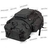 Туристический армейский супер-крепкий рюкзак 75 л. с ортопедической пластиной. Чёрный 1200 Нейлон, фото 6