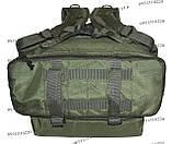 Тактический туристический супер-крепкий рюкзак трансформер 30-45 литров Олива, фото 5