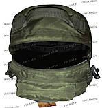 Тактический туристический супер-крепкий рюкзак трансформер 30-45 литров Олива, фото 6