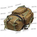 Тактический туристический армейский супер-крепкий рюкзак на 75 литров Койот, фото 5