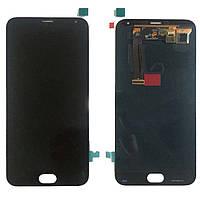 Оригинальный дисплей Meizu MX5 черный (LCD экран, тачскрин, стекло в сборе)
