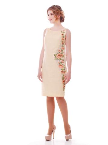 18ee7b3dc48bf9 Сукня вишита білий льон