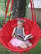 Подвесное кресло-качель, гамак красного цвета, фото 3