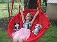 Подвесное кресло-качель, гамак красного цвета, фото 4