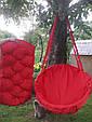 Подвесное кресло-качель, гамак красного цвета, фото 2